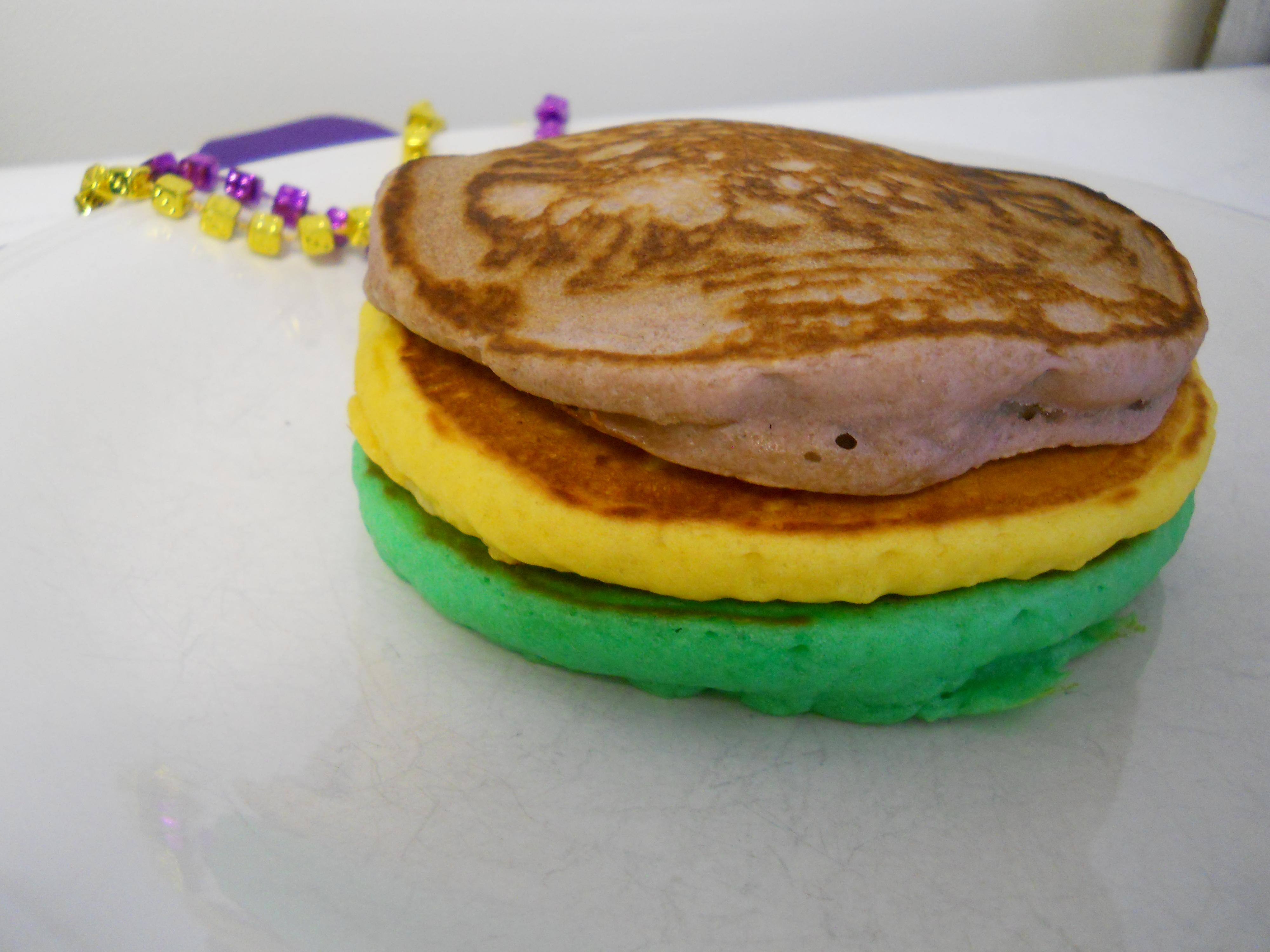 Mardi Gras Pancakes!   The Chocolate Bottle