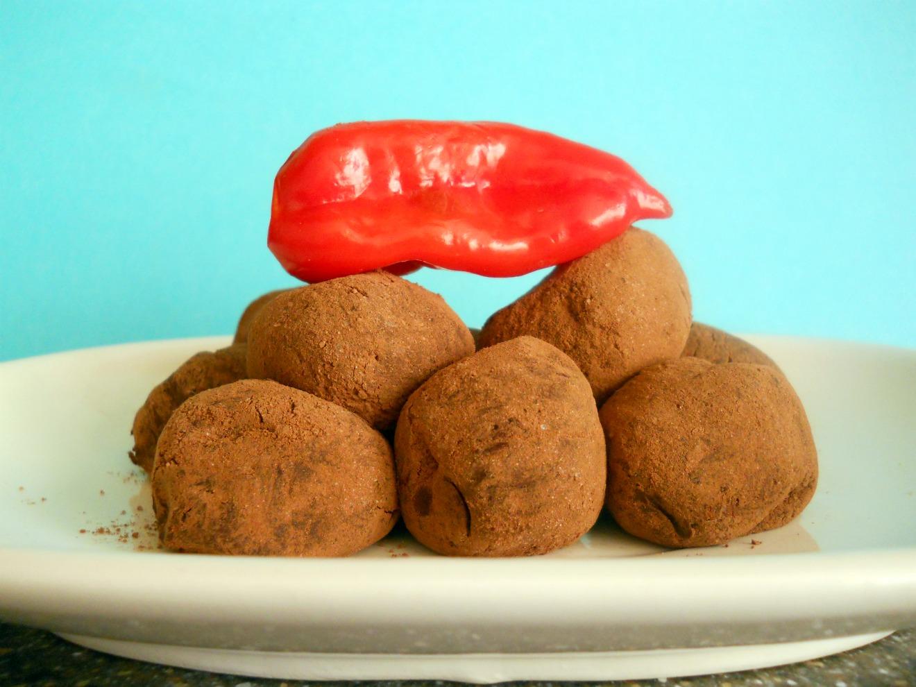 Dark Chocolate Chili Truffles | The Chocolate Bottle