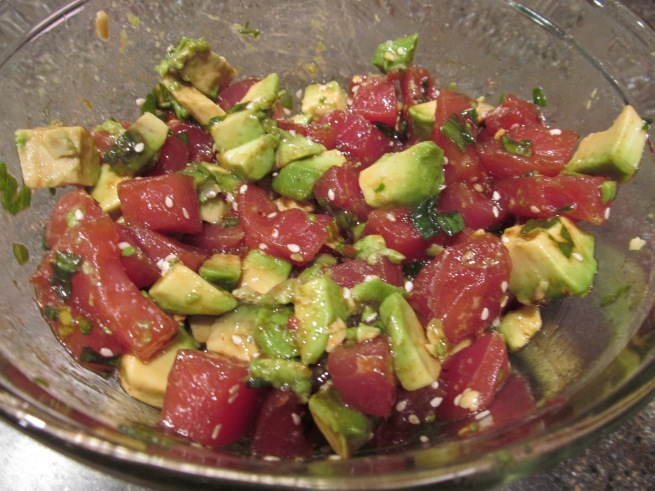 Ahi Poke – Christmas Style | The Chocolate Bottle