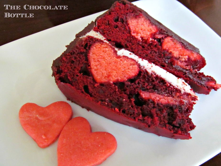 Hidden Hearts Valentine's Day Cake