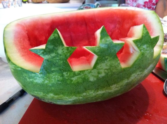 Patriotic Watermelon Bowl