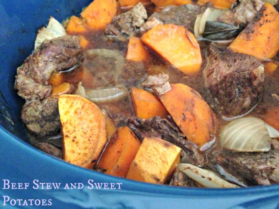 Beef Stew and Sweet Potatoes