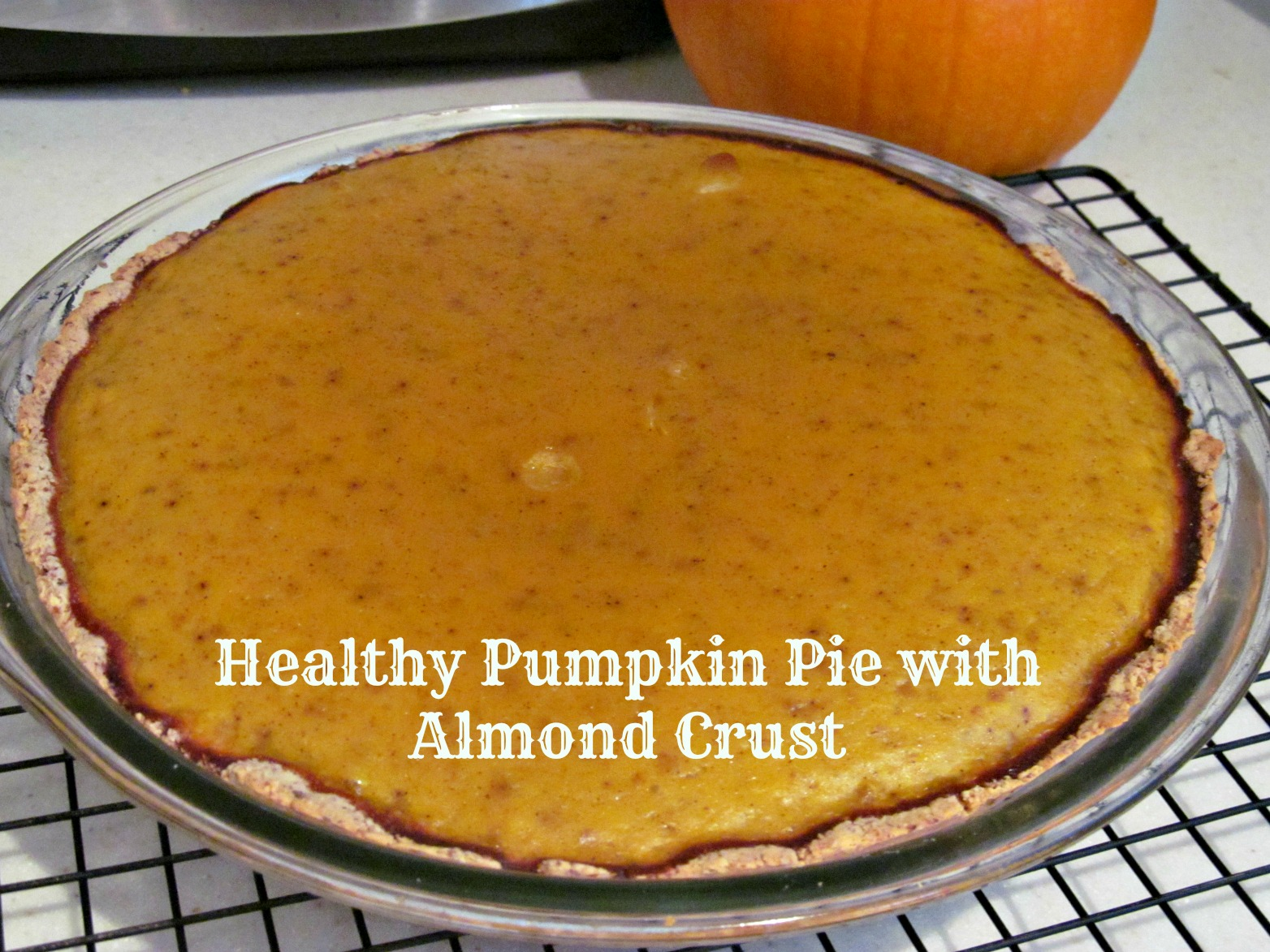 Healthy Pumpkin Pie with Almond Crust – The Chocolate Bottle