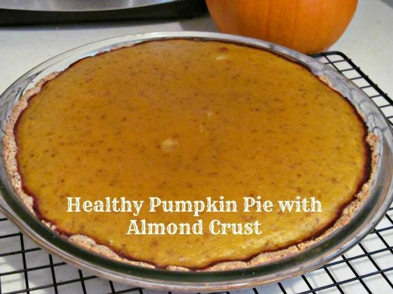 Healthy Pumpkin Pie with Almond Crust