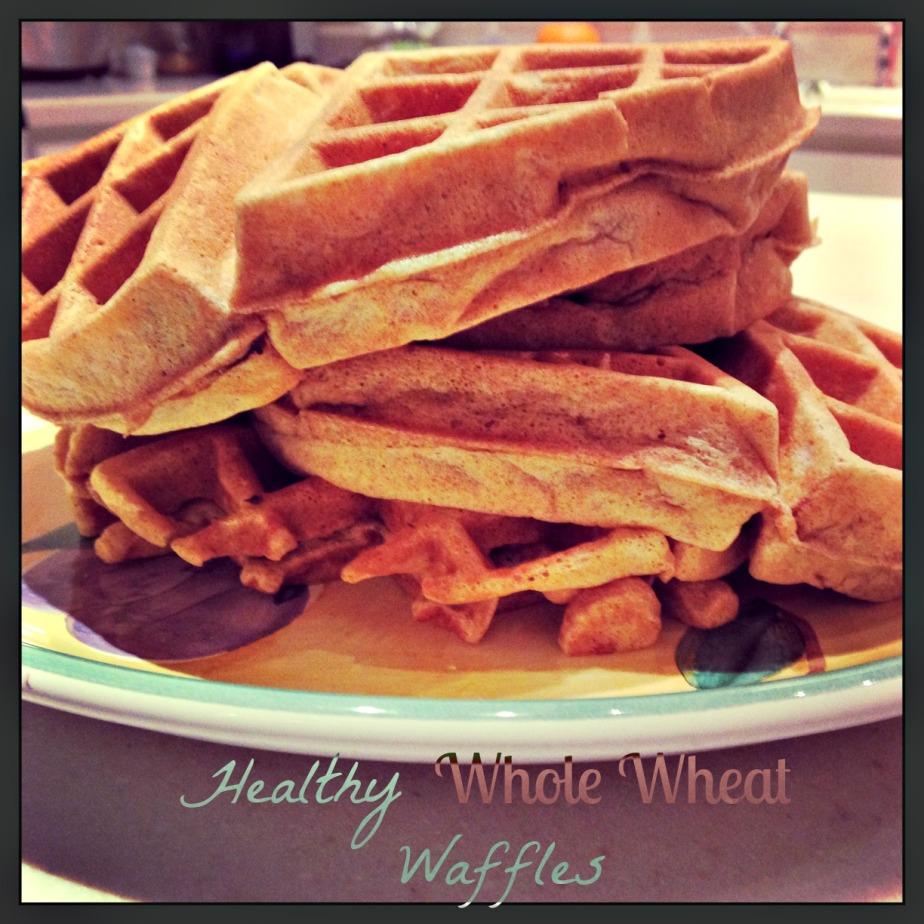 Healthy Whole WheatWaffles