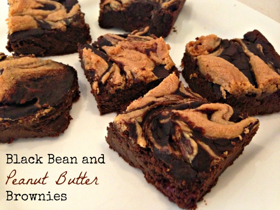 Black Bean Brownies and Peanut ButterSwirl