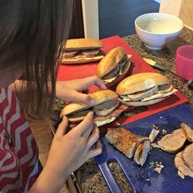 Stuffing sandwiches
