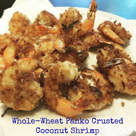 Whole-Wheat Panko Crusted Coconut Shrimp